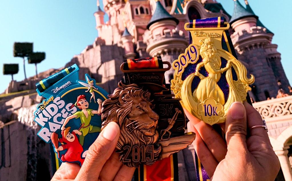 médailles Disneyland Paris Princess Run 2020