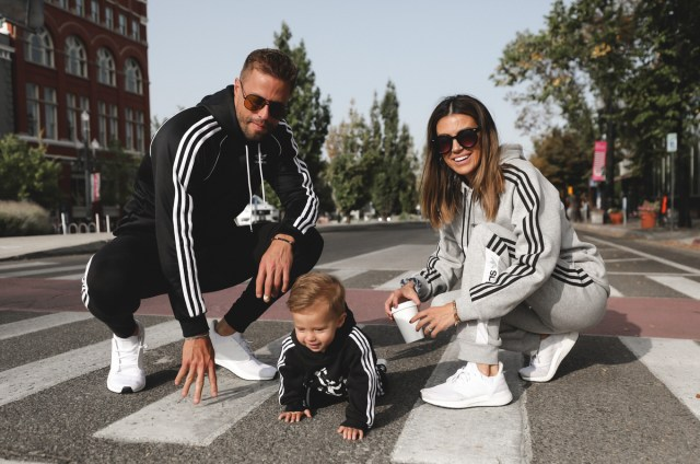 family sportswear style and workout sneaker