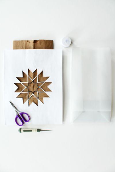 Ramadan Ideas: DIY 8 Pointed Star Luminaries - Hello Holy Days!