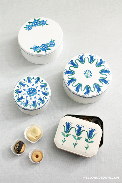 Decoupage Turkish Art Cookie Tins for Ramadan by Hello Holy Days!
