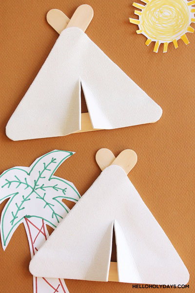 Popsicle Stick Hajj Tents Craft by Hello Holy Days!