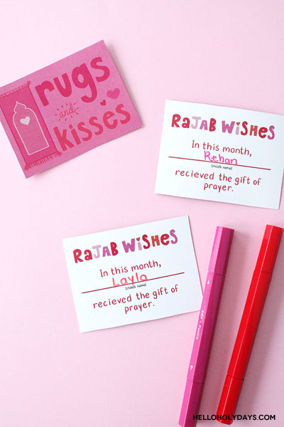 Month of Rajab activity for Muslim kids, free printable