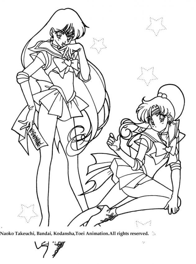Two Warrior Girls Coloring Pages