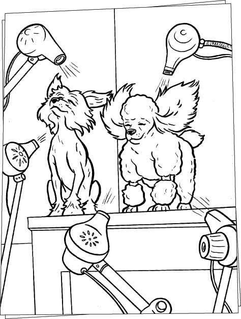 Hair Salon Free Coloring Pages
