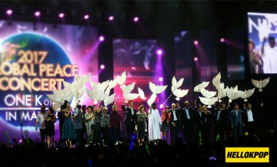 one k global peace concert opening