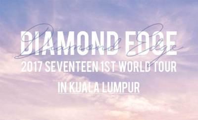 """'2017 SEVENTEEN 1st World Tour """"DIAMOND EDGE"""" in Kuala Lumpur'"""