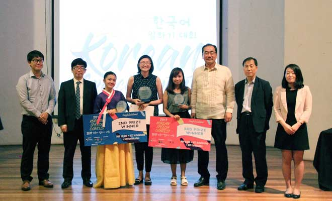 ateneo student wins annual korean speech contest in the philippines