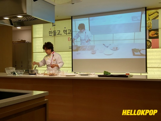 The instructor during Cooking experience program