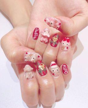 Gyaru Christmas Nail Inspiration