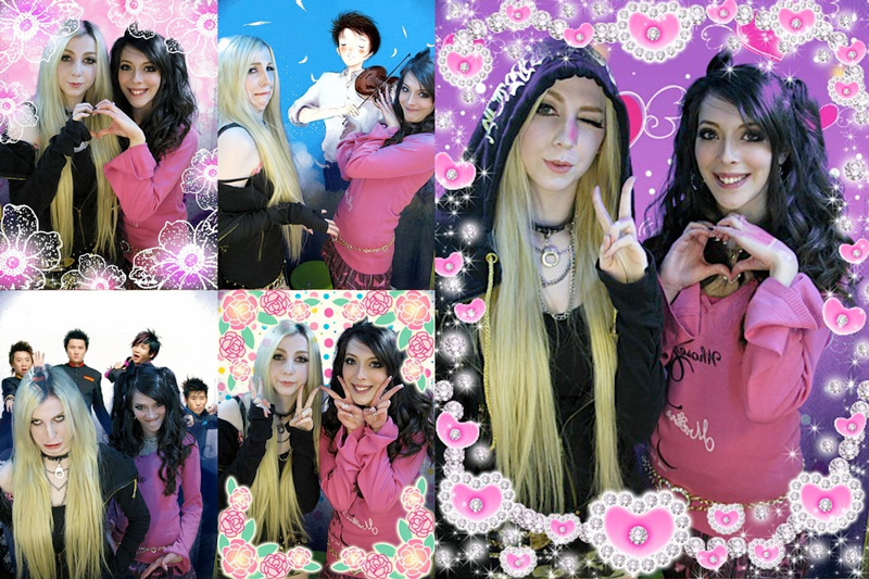 Purikura of UK gyaru Lizzie and Maz
