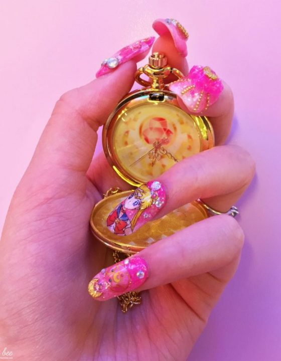 Lhouraii's Nails: Sailor Moon Gyaru Nails Review!