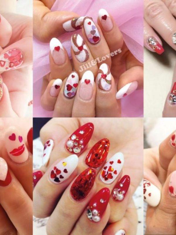 Gyaru Nail Art Inspiration for Valentine's Day