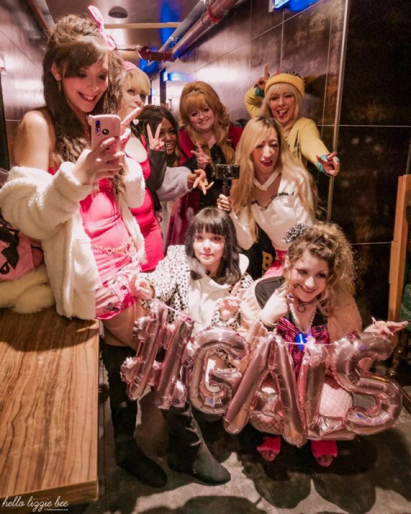 UK gaijin gyaru at the Galentine's Day meet in Birmingham via hellolizziebee