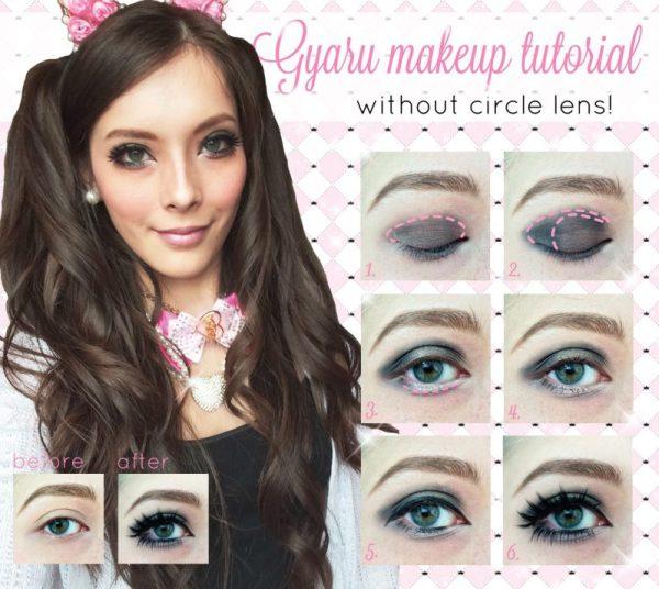 Western gyaru makeup tutorial without circle lens