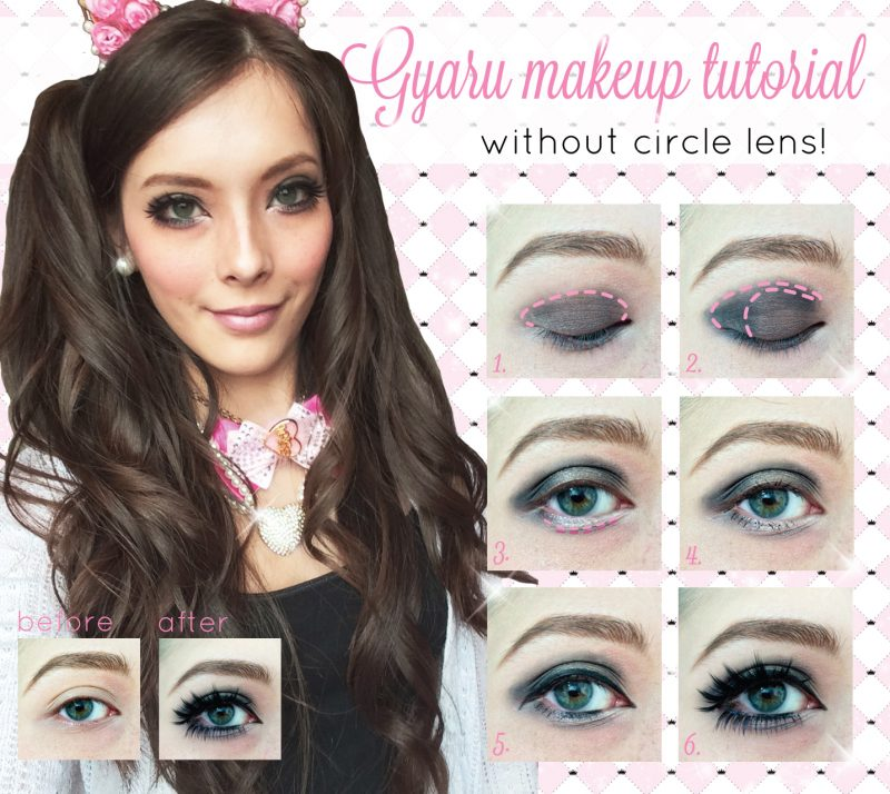 Western gyaru makeup tutorial without circle lenses