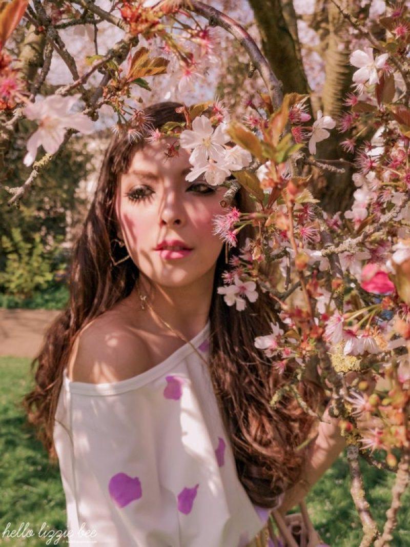gaijin gyaru, cherry blossom, spring, gyaru makeup