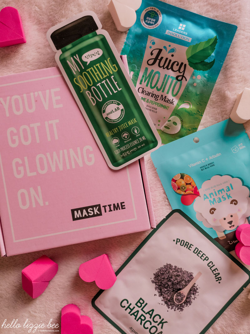 MaskTime Sheet Mask Kit Review by hellolizziebee
