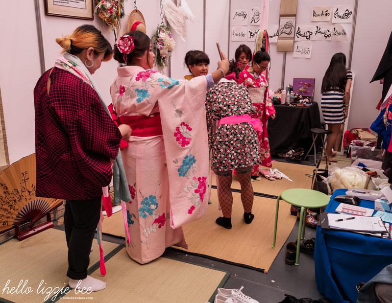 Renting kimonos