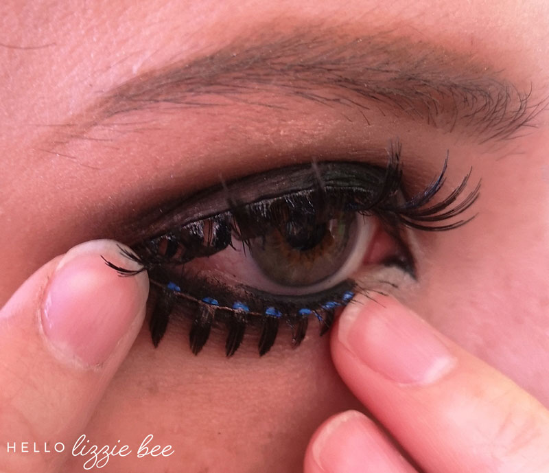 putting on lower false lashes