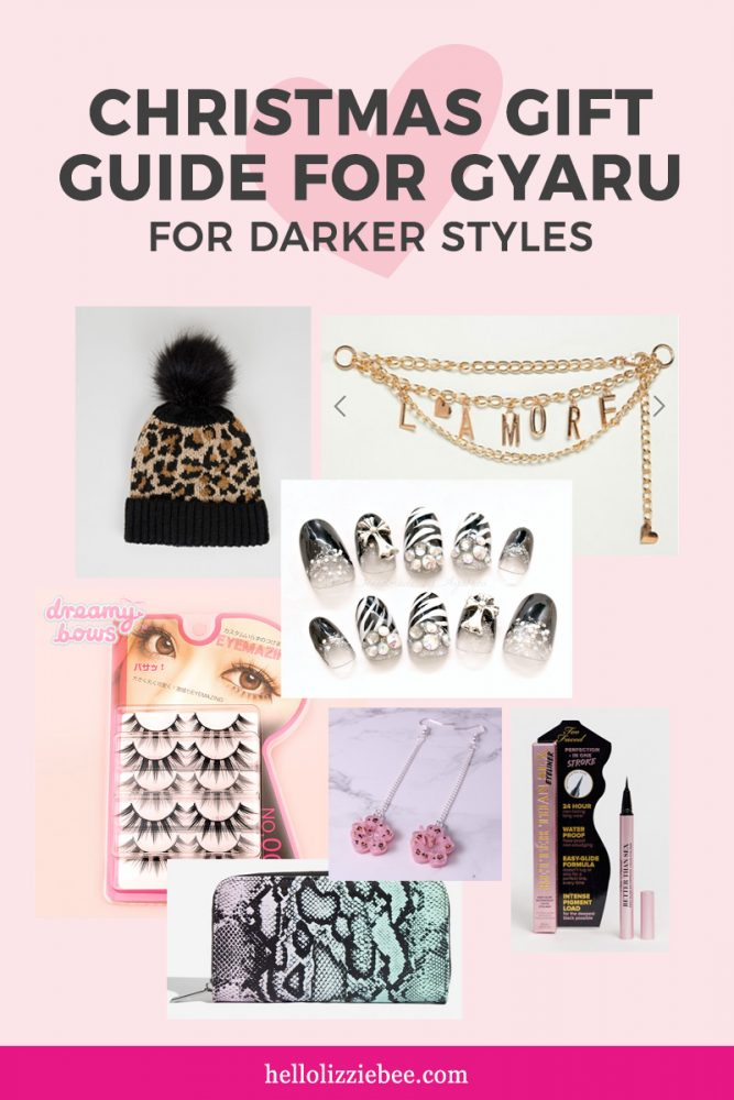 Christmas gift guide for darker gyaru styles via hellolizziebee
