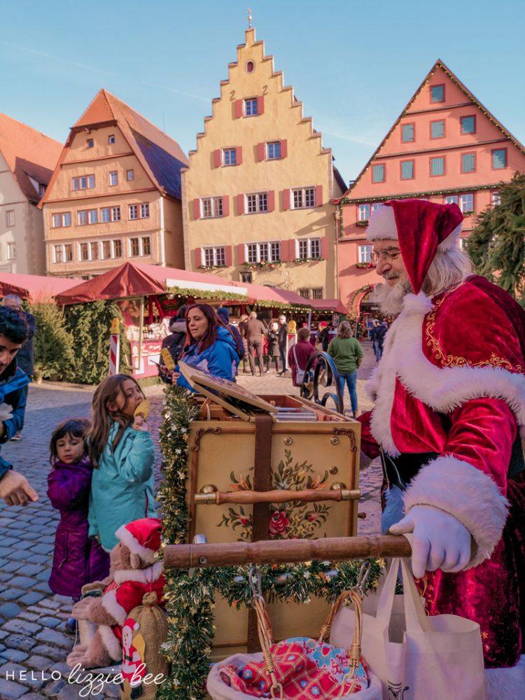 Celebrating Christmas in Rothenburg, Germany