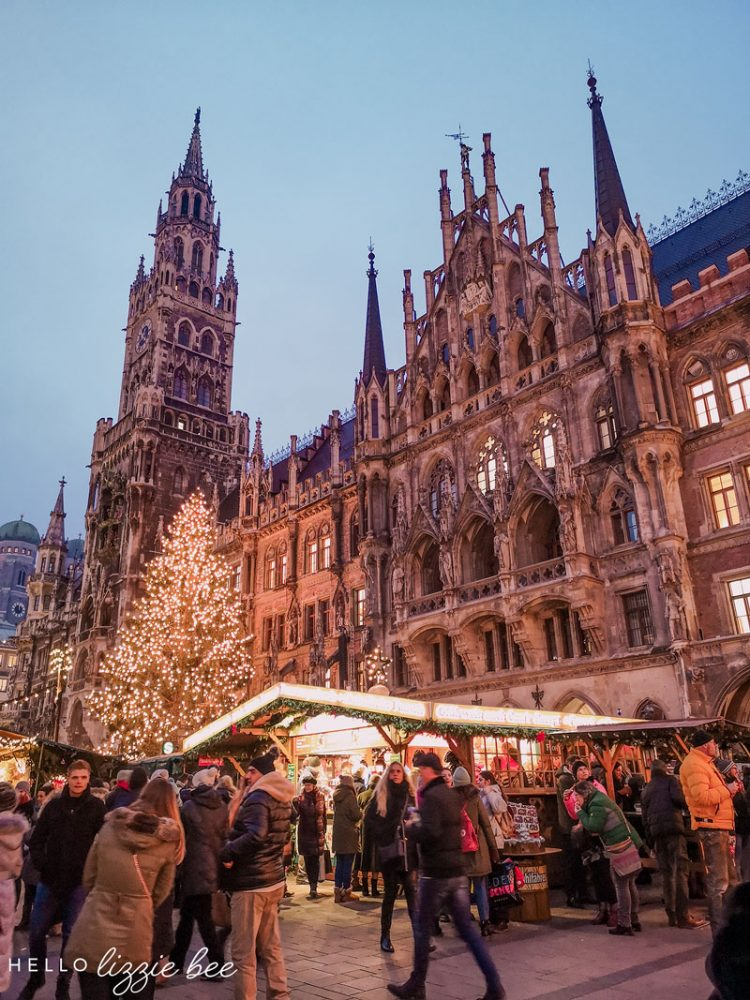 Christmas market at Marienplatz in Munich, Germany