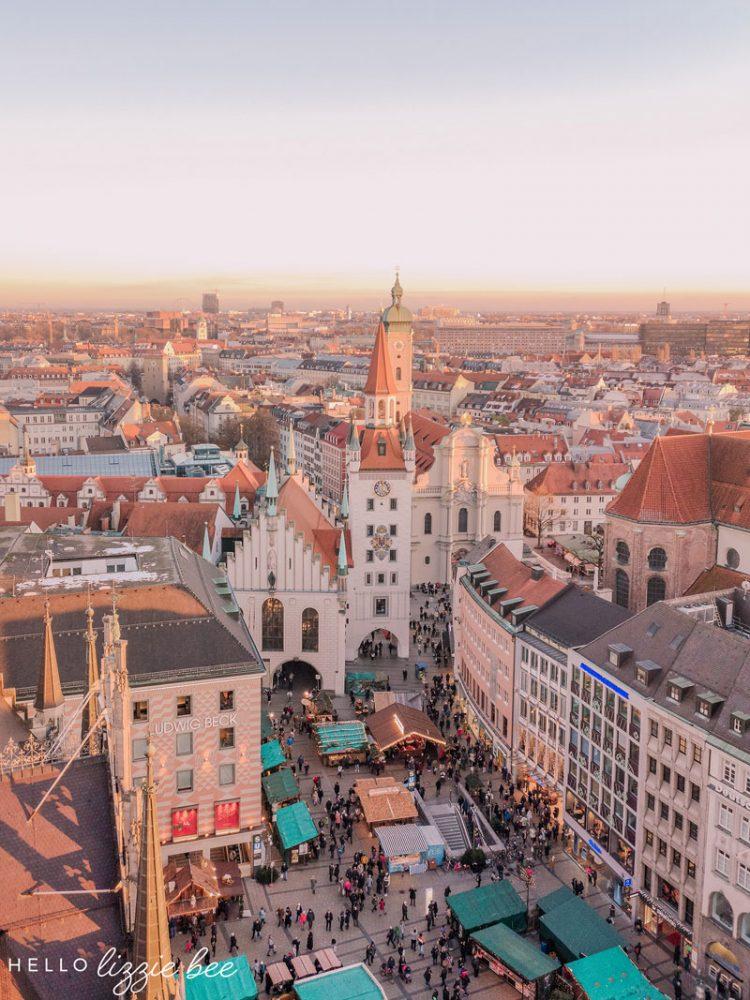 Marienplatz in Munich, Germany, by hellolizziebee