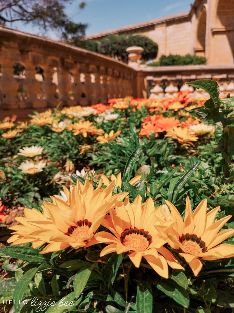 Upper Barrakka Gardens in Valletta, Malta