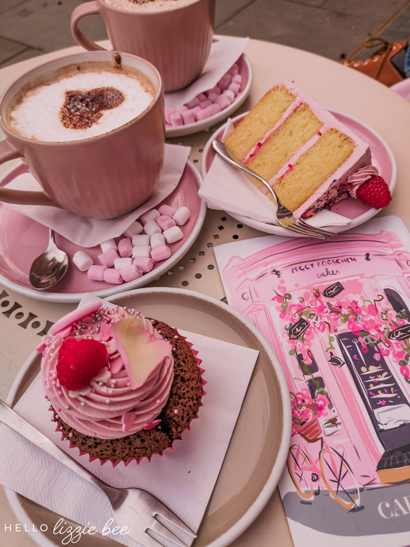 Valentine's Day special cupcakes and cake slice