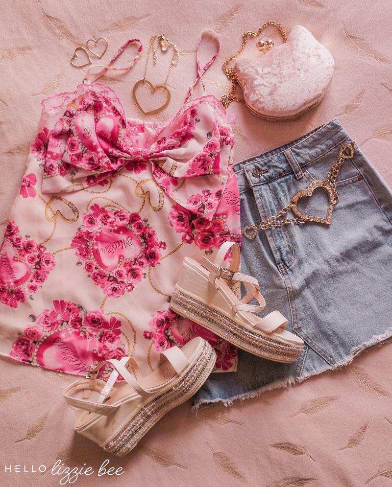 Agejo gyaru outfit idea for summer