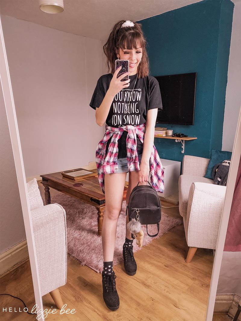 Grunge gyaru outfit by hellolizziebee