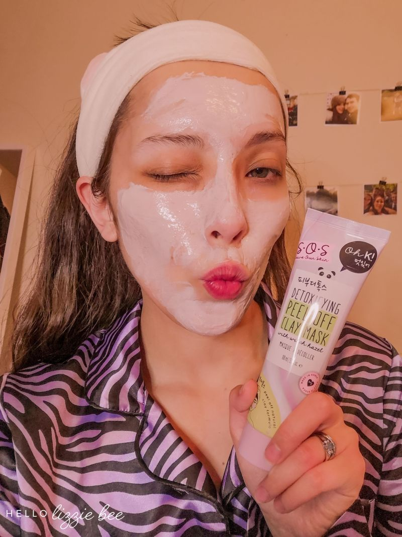 Oh K! SOS Detoxifying Peel Off Clay Mask Review by hellolizziebee