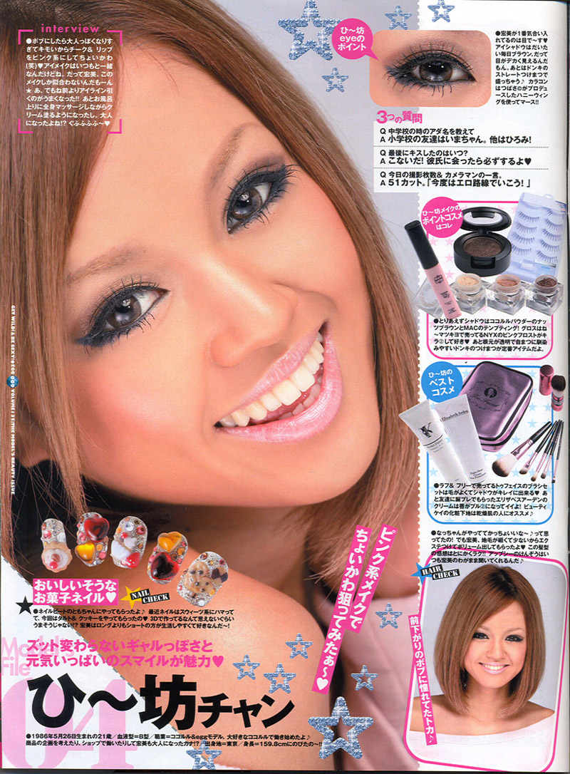 Old School Summer Gyaru Makeup from EGG Magazine