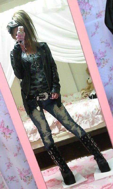 Tsuyome Gyaru Coord with Jeans