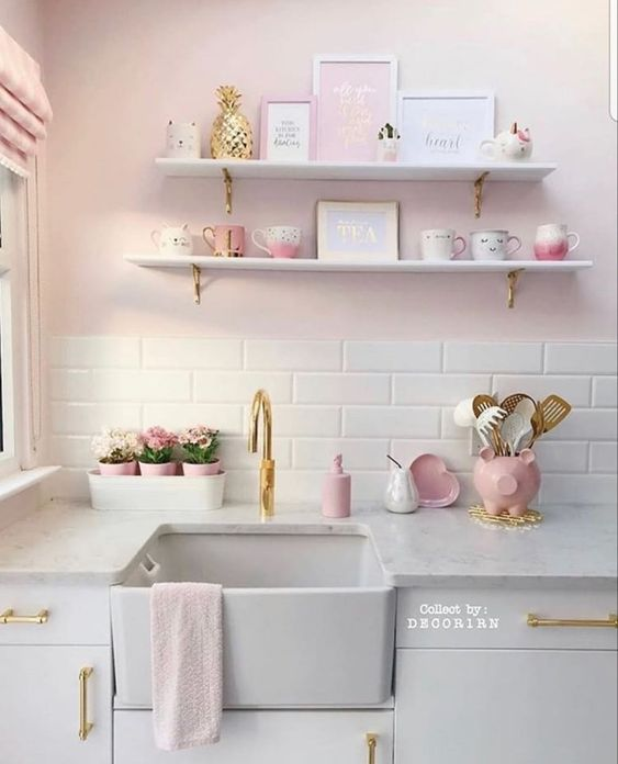 Cute Pink Kitchen