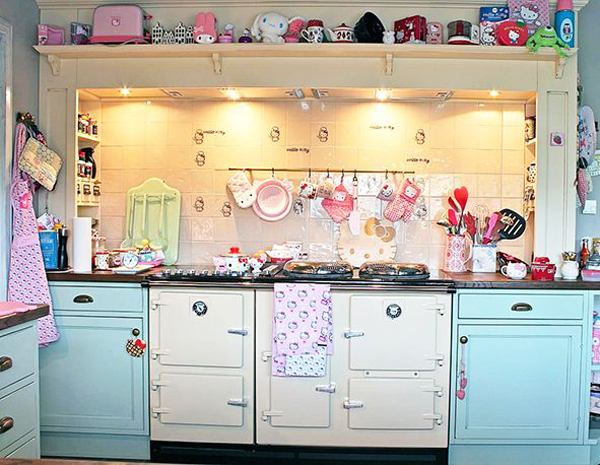 Pastel Hello Kitty Kitchen
