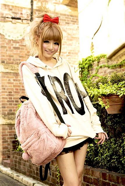 Rie Matsuoka wearing Ank Rouge hoodie