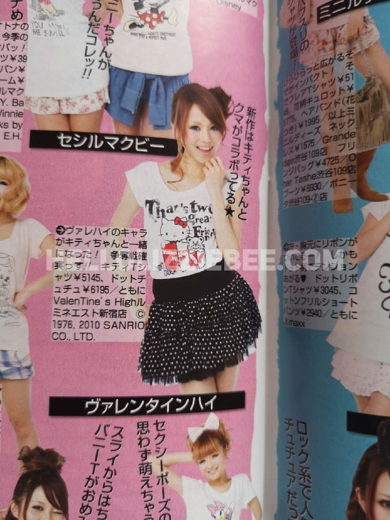 Hello Kitty in Popteen