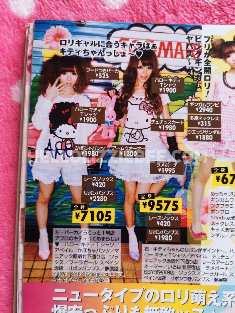 Hello Kitty gyaru outfits