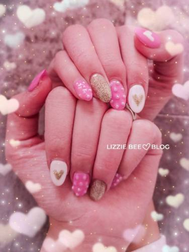 Kawaii pink nails for himekaji