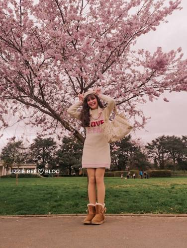 Cute gyaru outfit for early Spring