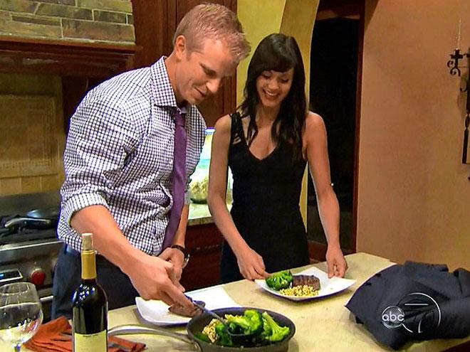 Bachelor Sean Lowe cooks on the Bachelor.