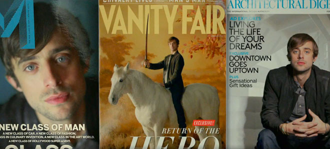 M, Vanity Fair and Architectural Digest are used in Mercedes Benz Soul ad.