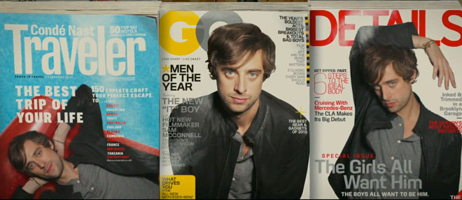 Magazines GQ, Details and World Traveler are featured in Mercedes Benz Soul ad.