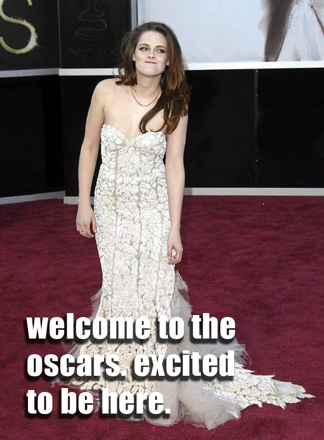 Kristin Stewart at the Oscars.