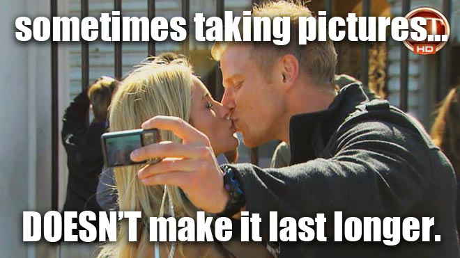 Sean Lowe and Emily Maynard kiss in London on the Bachelorette.