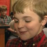 Muscular Dystrophy kid for Ryan Lochte's charity speech on WWRLD.