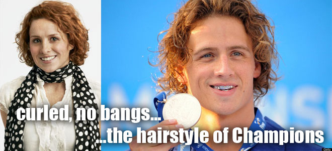 Ryan Lochte and his sister Megan used to have the same hair style curly on WWRLD.