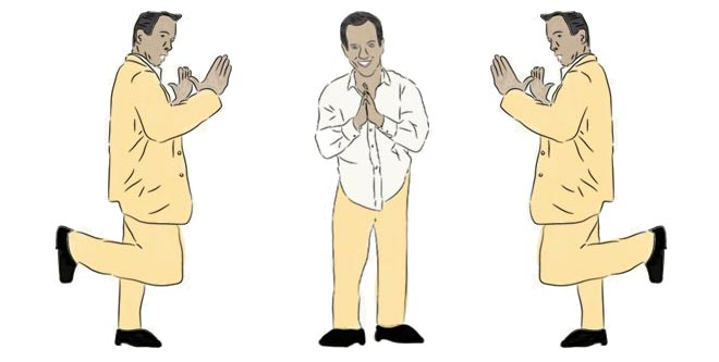 Instructions on how to do G.O.B. Bluth's chicken dance on Arrested Development.