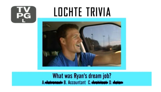Ryan Lochte says his dream job is to be an accountant on WWRLD.